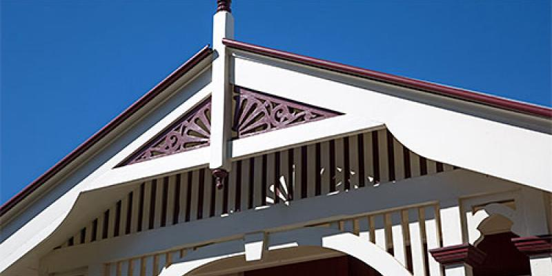 Detail on a Spring Hill house